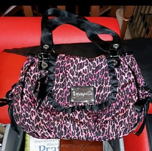 Betsey Johnson pink leopard purse